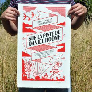 Sur la piste de Daniel Boone, Page de Garde, Laurent Moreau
